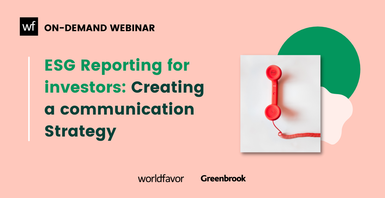 Webinar ESG reporting for investors is ready to be downloaded