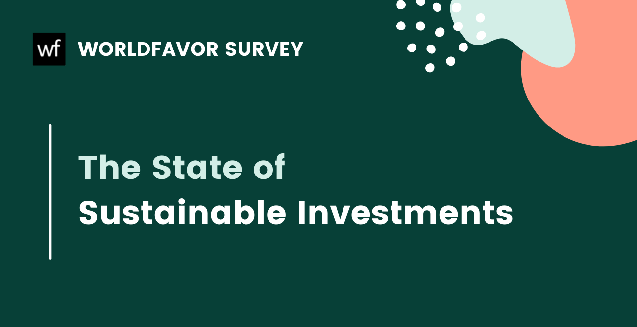 Survey: The state of sustainable investments 2021
