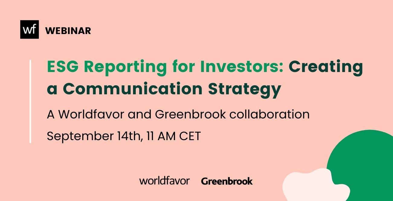 ESG reporting for investors – creating a communication strategy