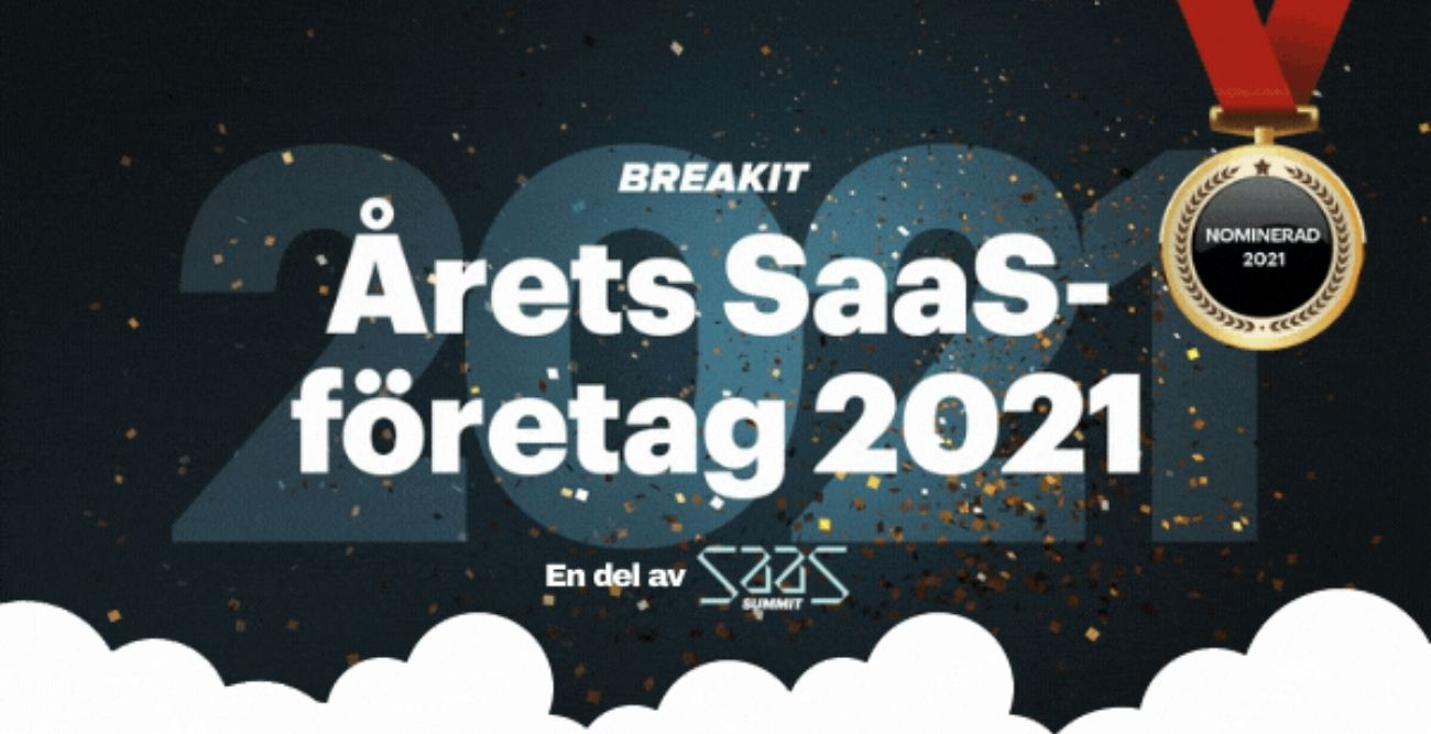 Worldfavor nominated as SaaS company of the year in Breakit SaaS Summit